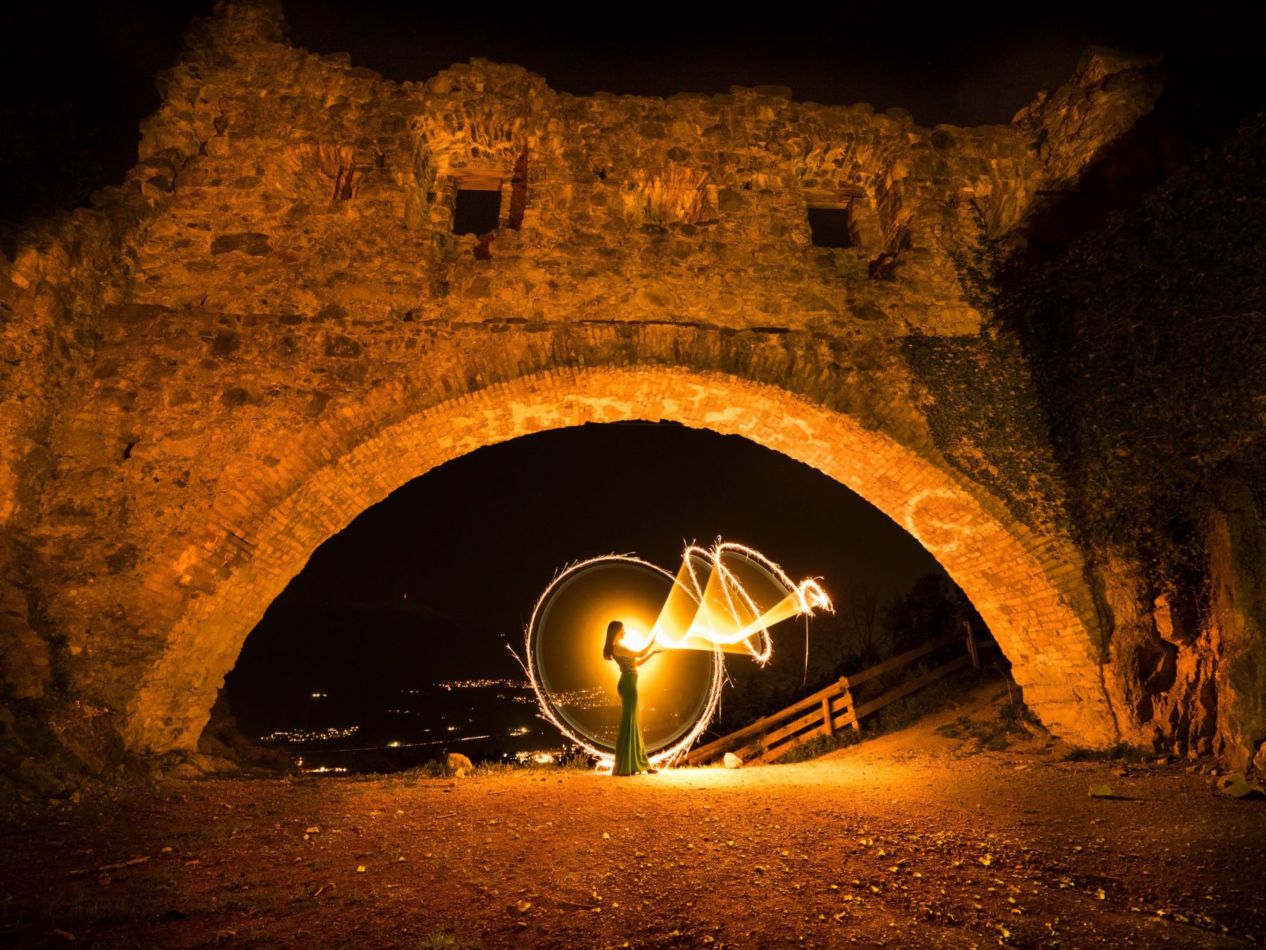 Lightpainting-session with Lena Rodlsberger (4/8)