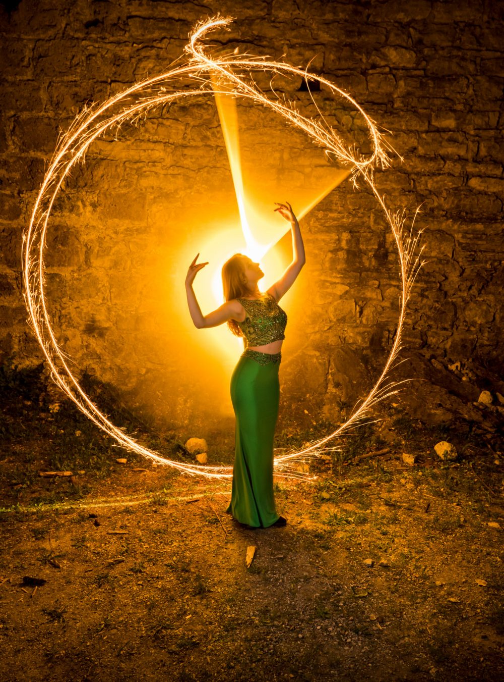 Lightpainting-session with Lena Rodlsberger (2/8)