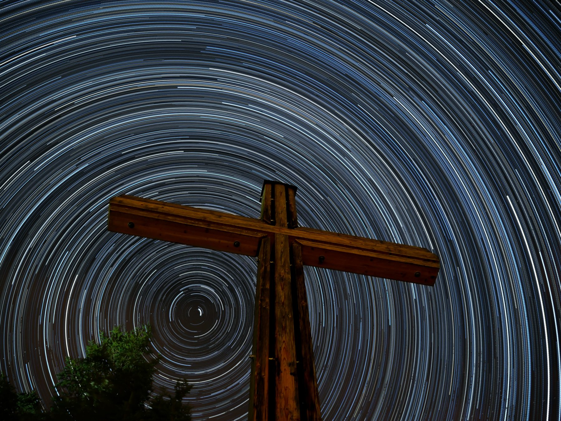 my first startrail-image from 2015